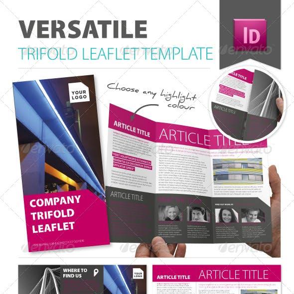 Versatile Trifold Leaflet Template