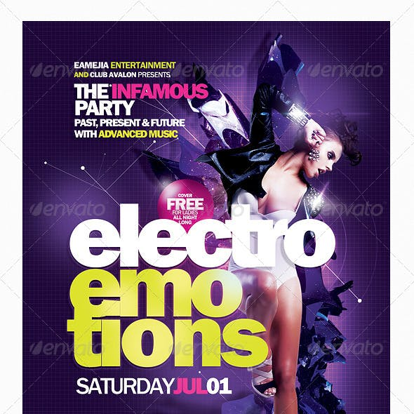 Electro Emotions Flyer Template