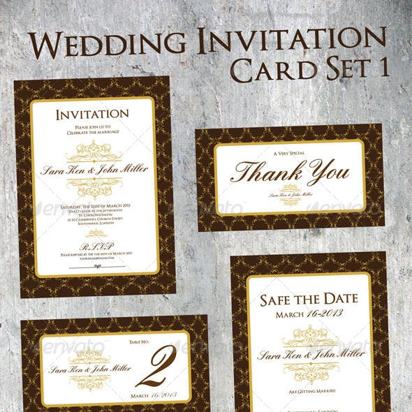 Wedding Invitation Set 1