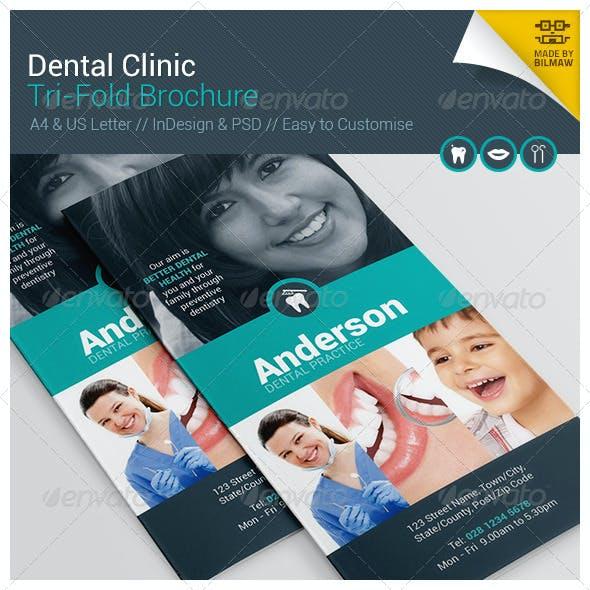 Dental Clinic Tri-Fold Brochure