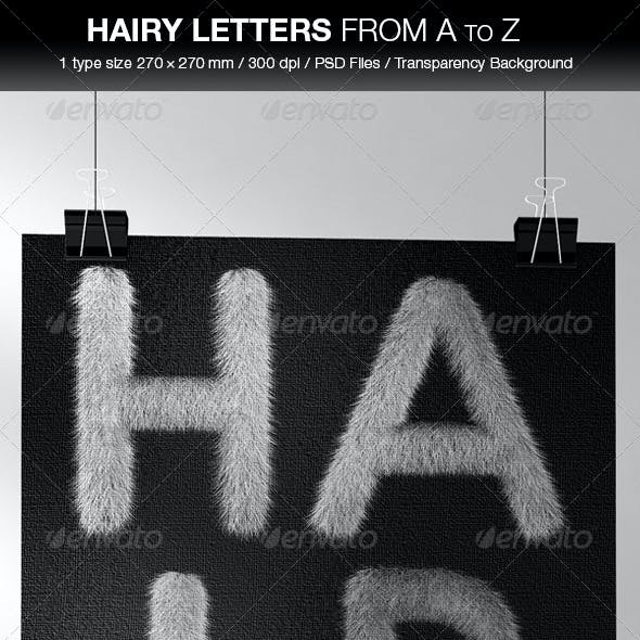 Hair Letters from A to Z