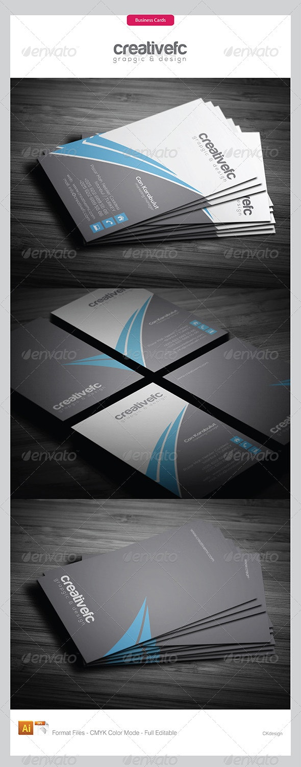 corporate business cards 335 - Business Cards Print Templates