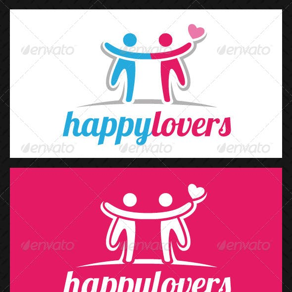 Happy Lovers Logo Template