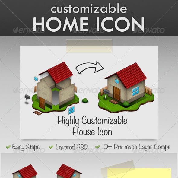 Highly Customizable House Icon