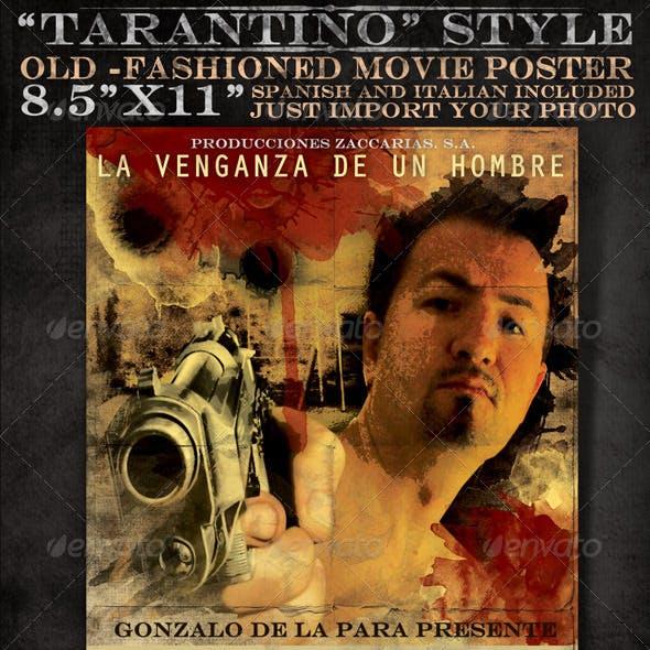 "8x5""x11"" Mexican and Italian Desperado Film Poster"