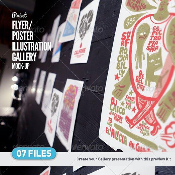 Flyer | Poster | Illustration Gallery Mock-Up