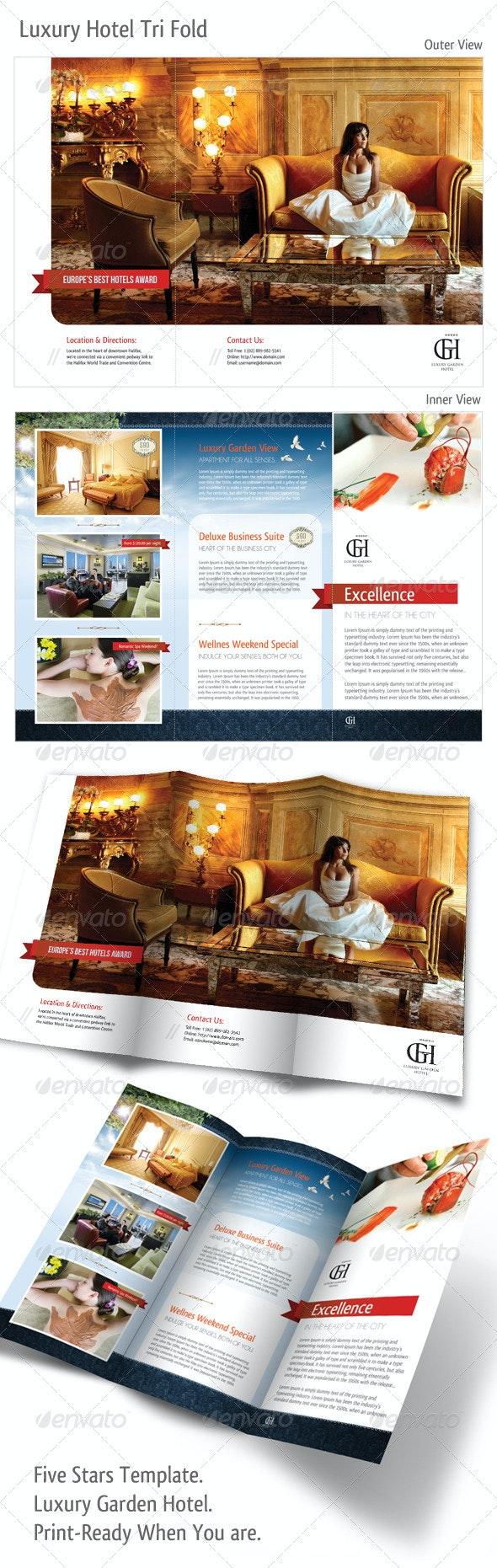 Tri-fold: Luxury Garden Hotel - Corporate Brochures