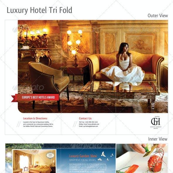 Tri-fold: Luxury Garden Hotel