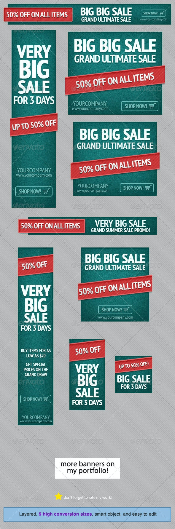 Green Event - Web Banner Design Template - Banners & Ads Web Elements