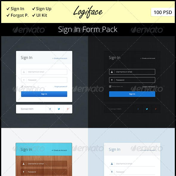 Logiface – Sign In Form Pack