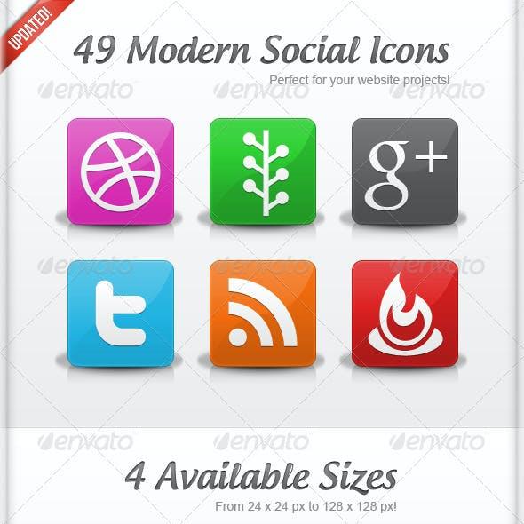 49 Modern Social Icons