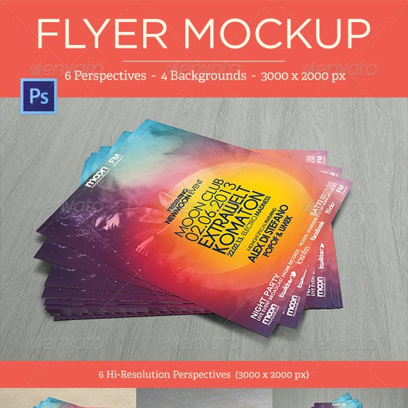 Flyer Mock-Ups - Vol. 1