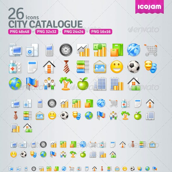 29 Catalogue icons