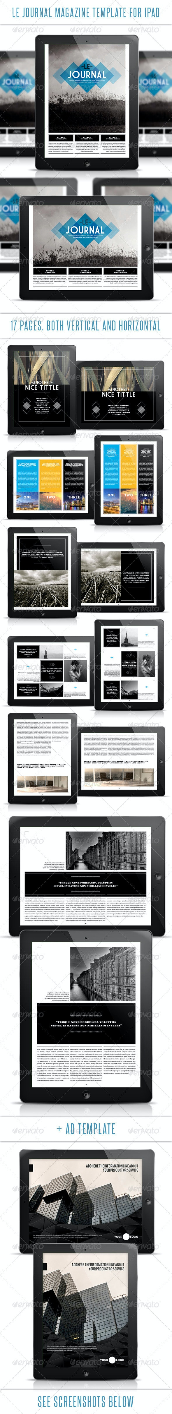 Le Journal Tablet Magazine Template - Digital Magazines ePublishing