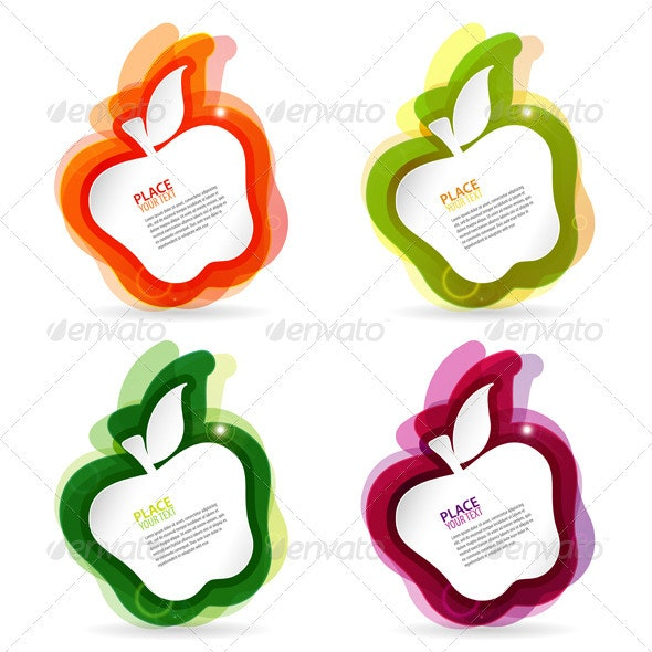 Apple colorful Frame - Food Objects