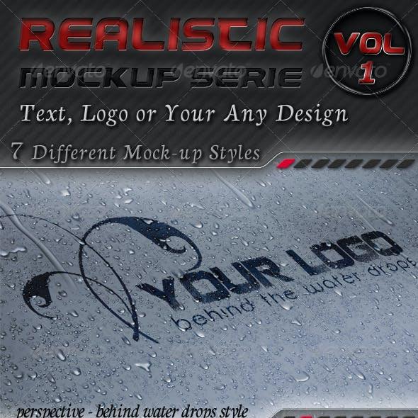 7 Logo Mockups Serie 1 - Realistic Display