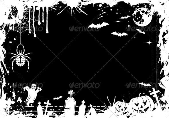 Grunge Halloween Frame - Halloween Seasons/Holidays