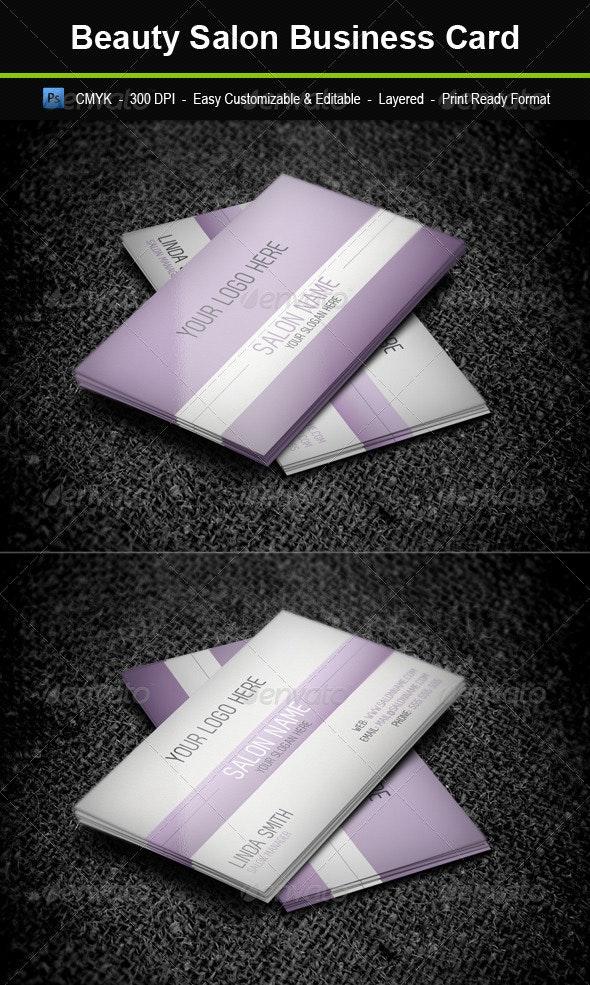 Beauty Salon Business Card - Corporate Business Cards