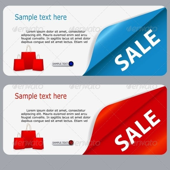 Sale Banner with Place for your Text