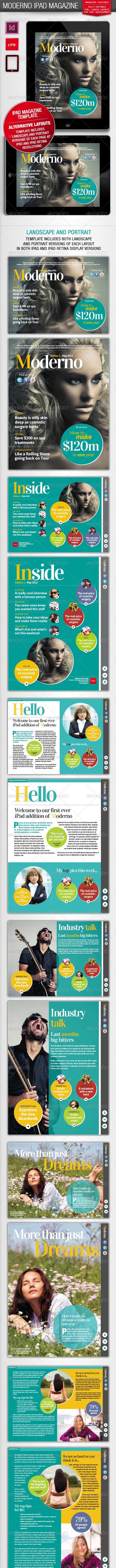 Moderno iPad Magazine - Digital Magazines ePublishing