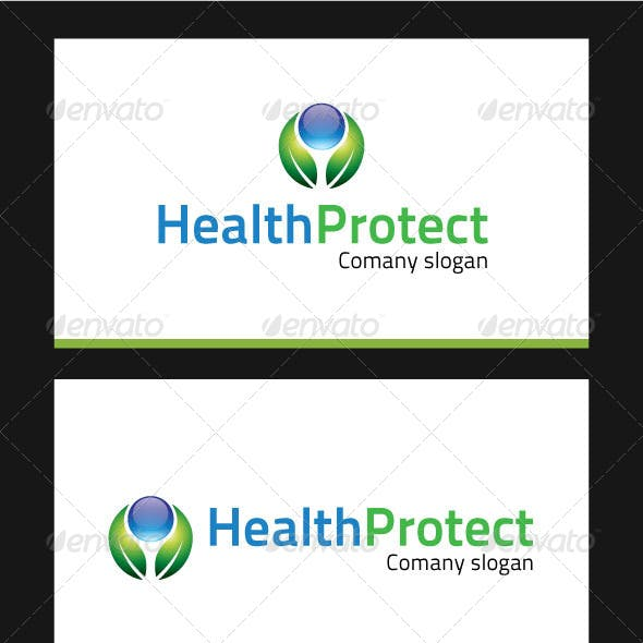 Health Protect Logo Template