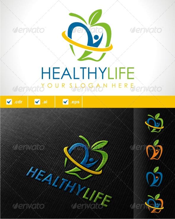 HEALTHY LIFE LOGO - Symbols Logo Templates