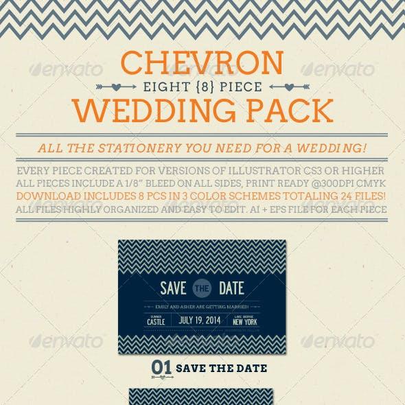 Chevron Wedding Pack