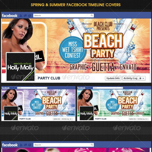 Spring & Beach Party Facebook Timeline Cover