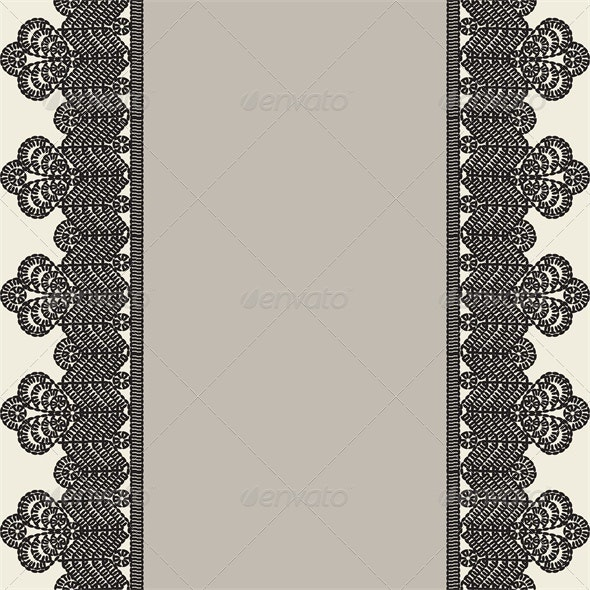 Vintage Card with Crochet Lace - Backgrounds Decorative