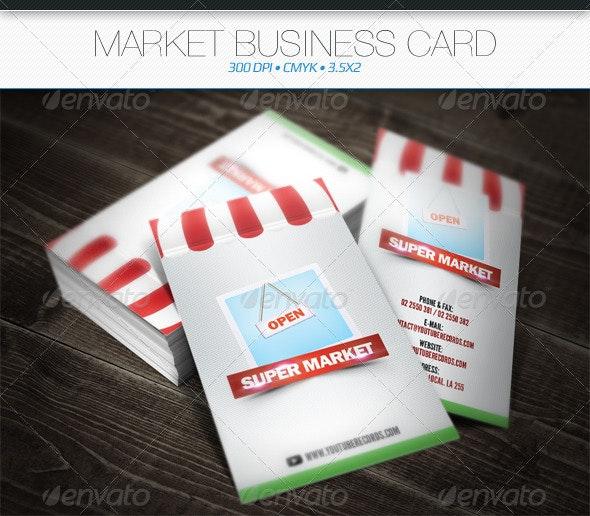 Market Business Card - Business Cards Print Templates