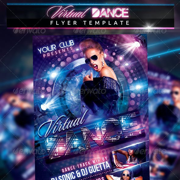 Virtual Dance Flyer Template