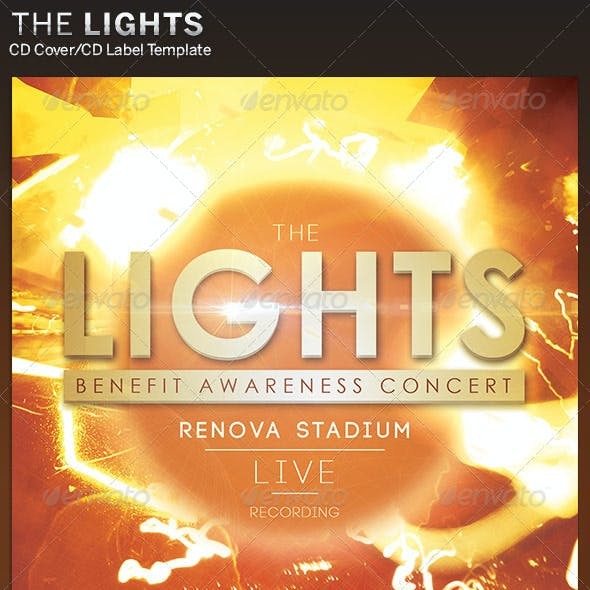 The Lights CD Cover Artwork Template