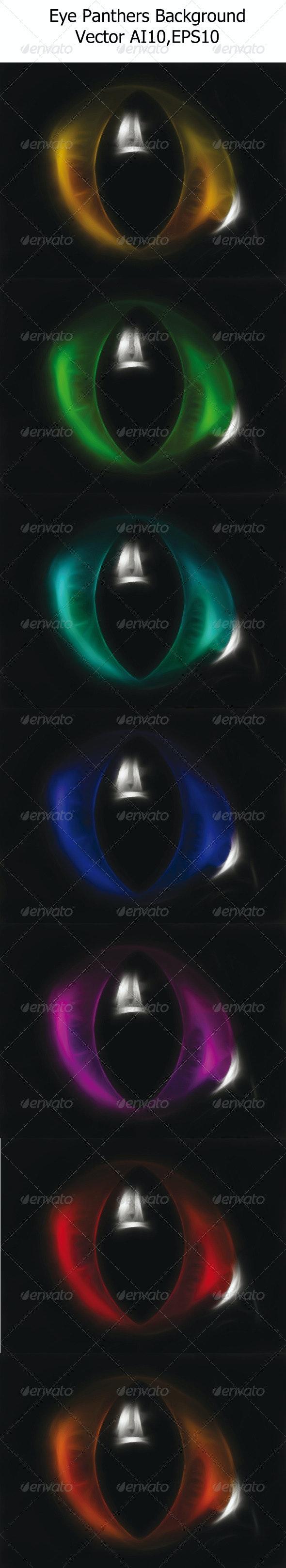 Eye Panthers Background - Backgrounds Decorative