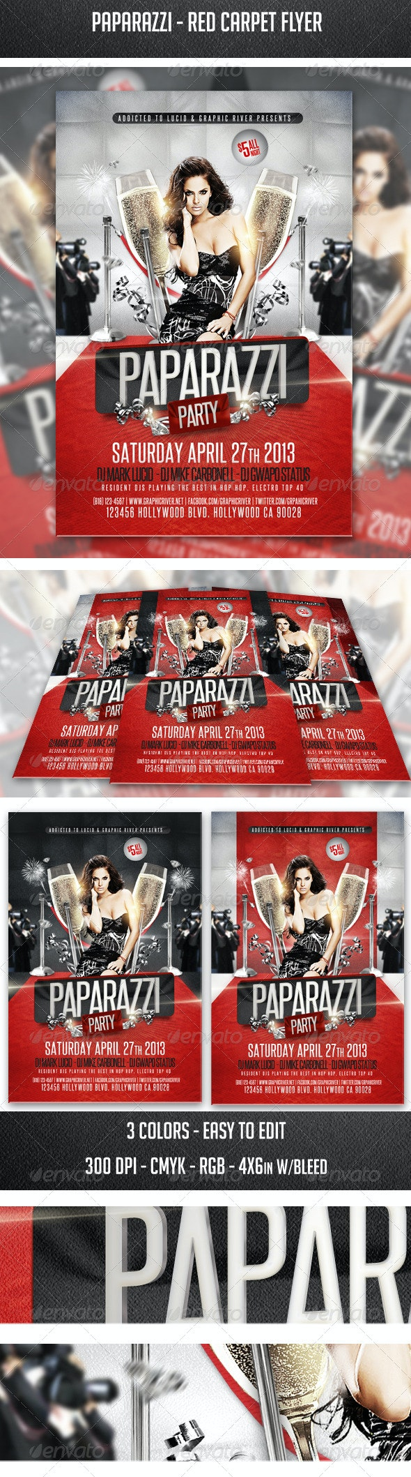 Paparazzi - Red Carpet Flyer - Clubs & Parties Events