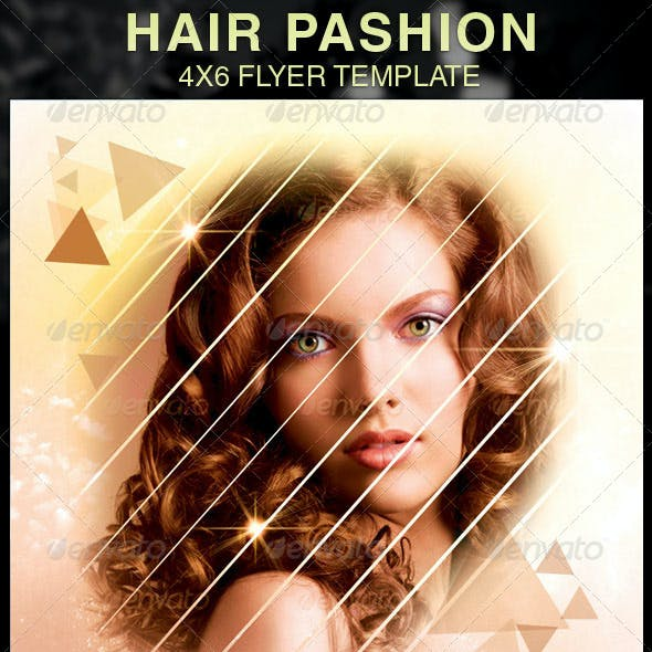 Hair Pashion Flyer Template
