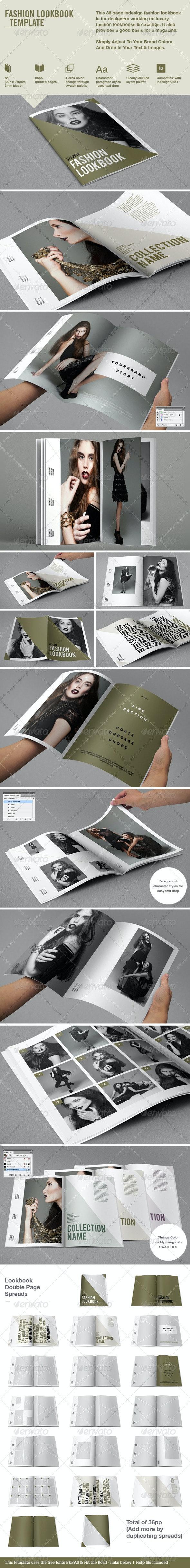 Fashion Lookbook - Brochures Print Templates