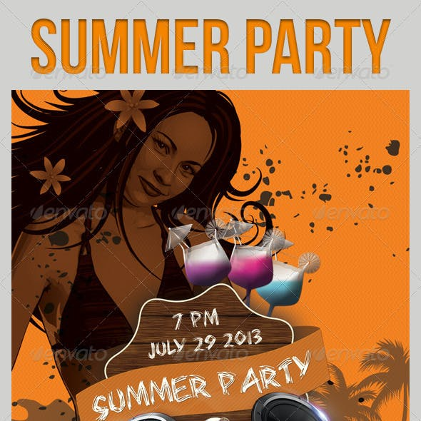 Summer Party Flyers Template