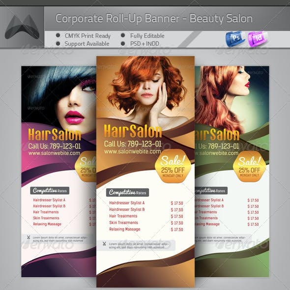 Corporate Roll-up Banner - Beauty Salon