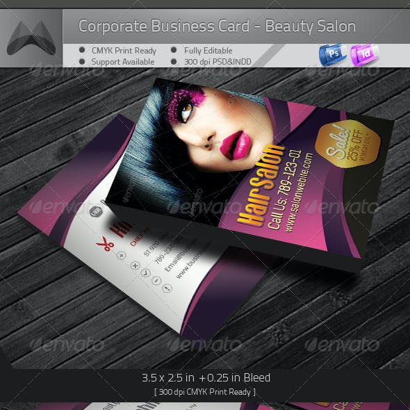 Corporate Business Card - Beauty Salon