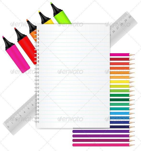 Back To School - Stationery - Man-made Objects Objects
