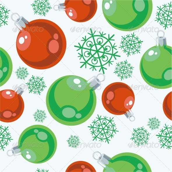 Seamless Xmas Ball Ornament in Color 77