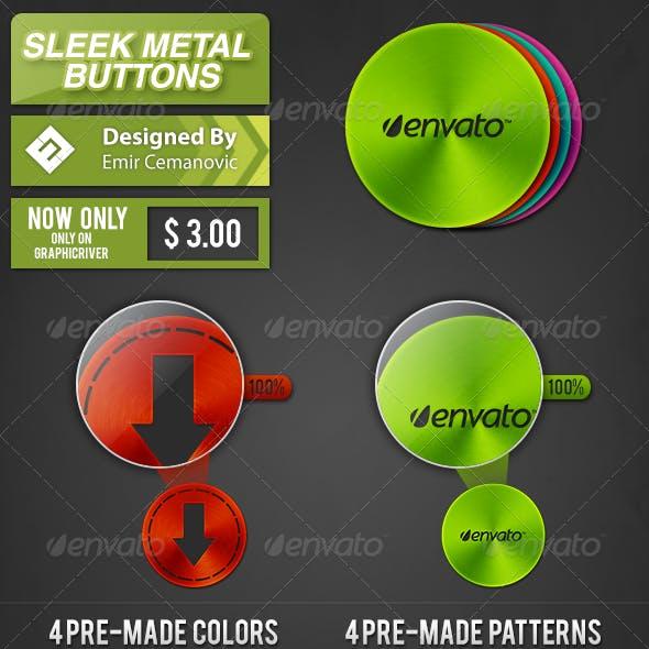 Sleek Metal Buttons