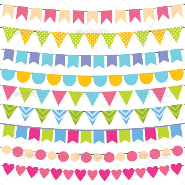 Vector Bunting and Garland Set.