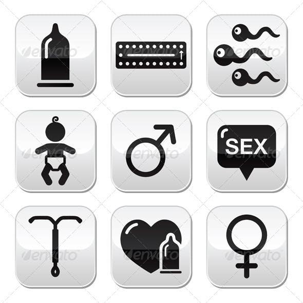 Contraception Method Icons