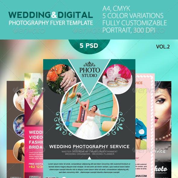 Wedding And Digital Photography Flyer