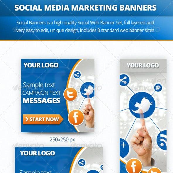Social Multiporpose Web Banner Set
