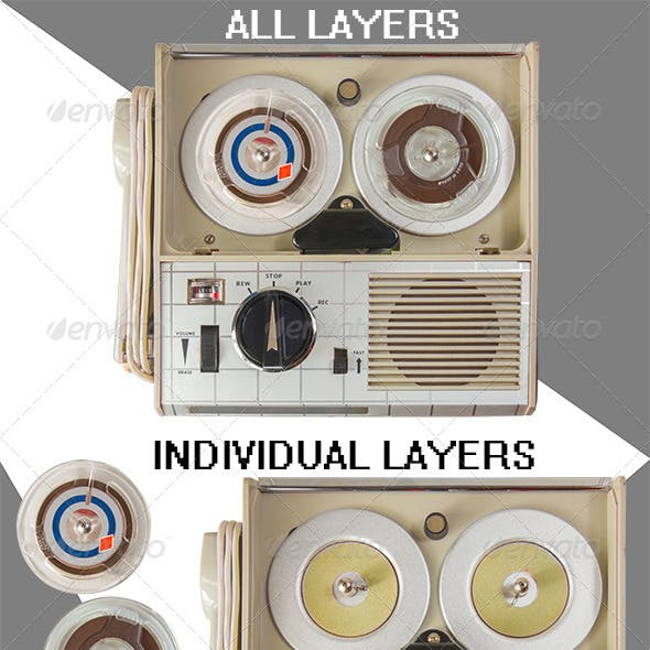 Old Portable Mini Tape Recorder Parts