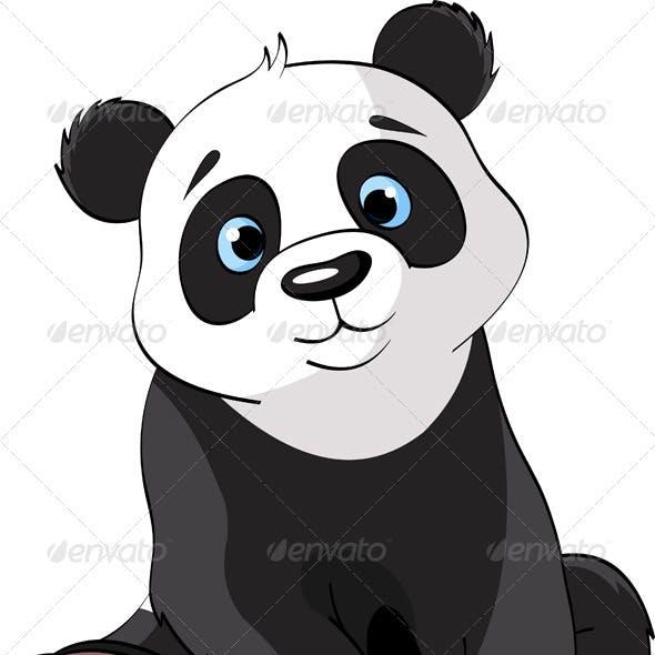 Sitting Cute Panda