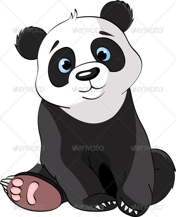 Sitting Cute Panda  - Animals Characters