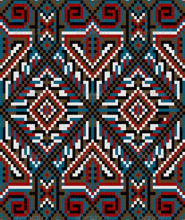 Design Ethnic Frame Rug in Dark Shades - Borders Decorative